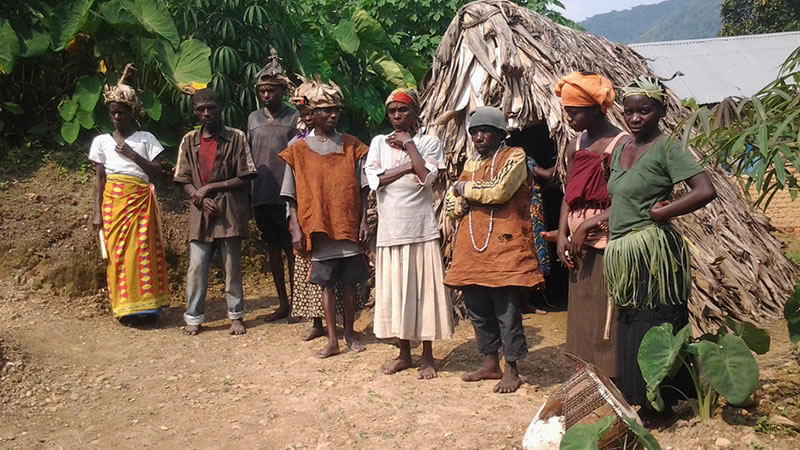 Batwa people in South Western Uganda
